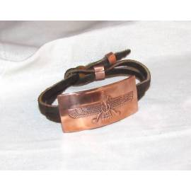 دستبند مسی نقش فروهرکد16