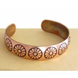 دستبند مسی قوس دار کد19