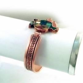 دستبند مسی انار سنگ کاری شده کد33